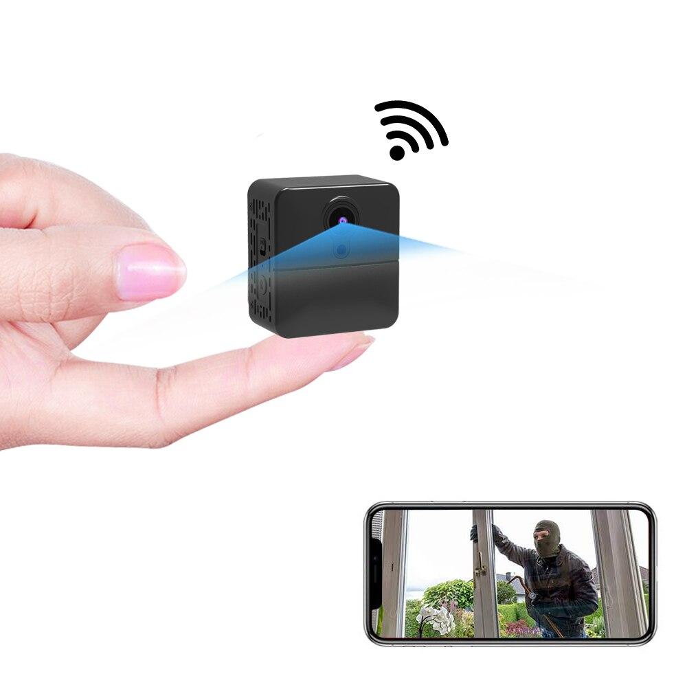 كاميرا صغيرة تعمل بالواي فاي PNZEO W6 كاميرا صغيرة حقيقية عالية الدقة تسجيل أمن الوطن كاميرا محمولة متعددة الأغراض