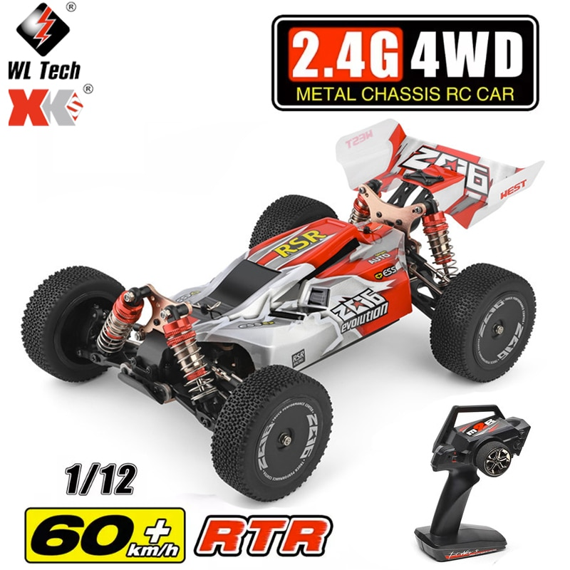 WLtoys 144001 2.4G RC Car Racing Competition 60 km/h Metal Chassis 4wd Electric RC Formula Cars Remote Control Toys for Children