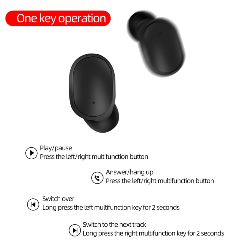 A6S Plus Earphones Wireless TWS Bluetooth Headsets Headphones Sport Noise Cancelling Stereo Earbuds with Mic for All Smartphone enlarge