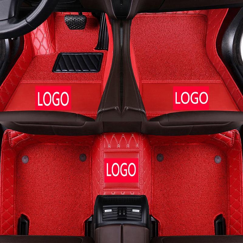 CARFUNNY Custom car logo car floor mats for lexus gs300 toyota tundra corolla e150 touareg 2008 bmw e70  car styling carpet