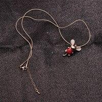 Высококачественная цепочка для свитера Изысканная Милая маленькая кулон в виде мыши ювелирные изделия Высокое качество Изысканная мышь эл...