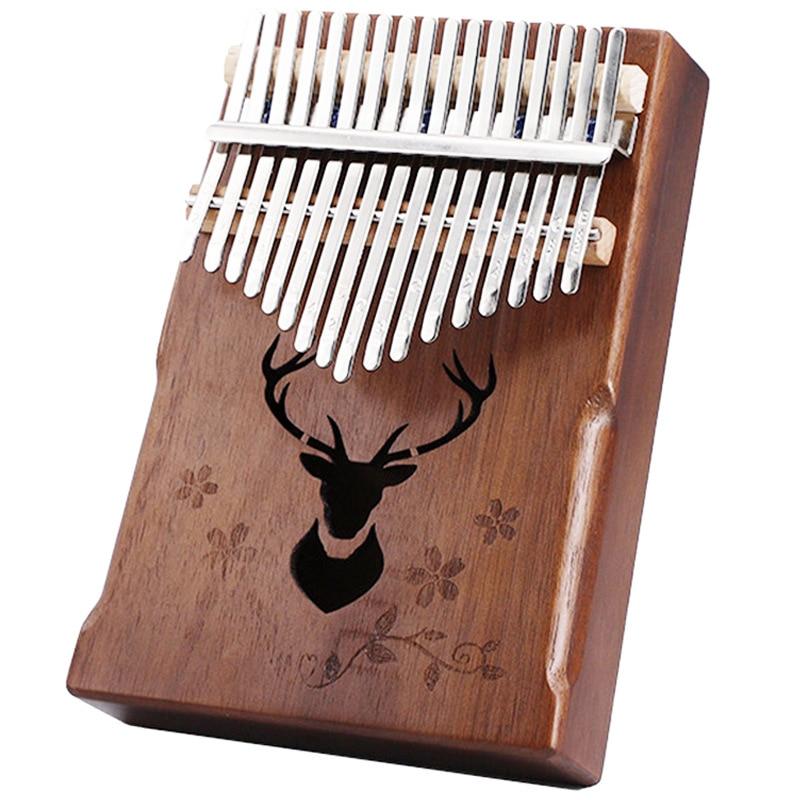 Kalimba 17 Key Thumb Piano High Quality Mahogany African Sanza Mbira Kalimba Portable Brown Deer Finger Music Instrument Gift enlarge