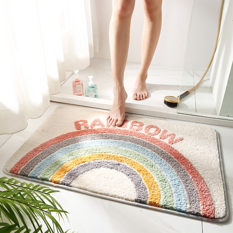 الحمام ماصة السجاد أنيمي السجاد لون نقي أبواب الحمامات حصيرة على شكل قلب البساط رقيق البساط منطقة السجاد أرضية منزل حصيرة