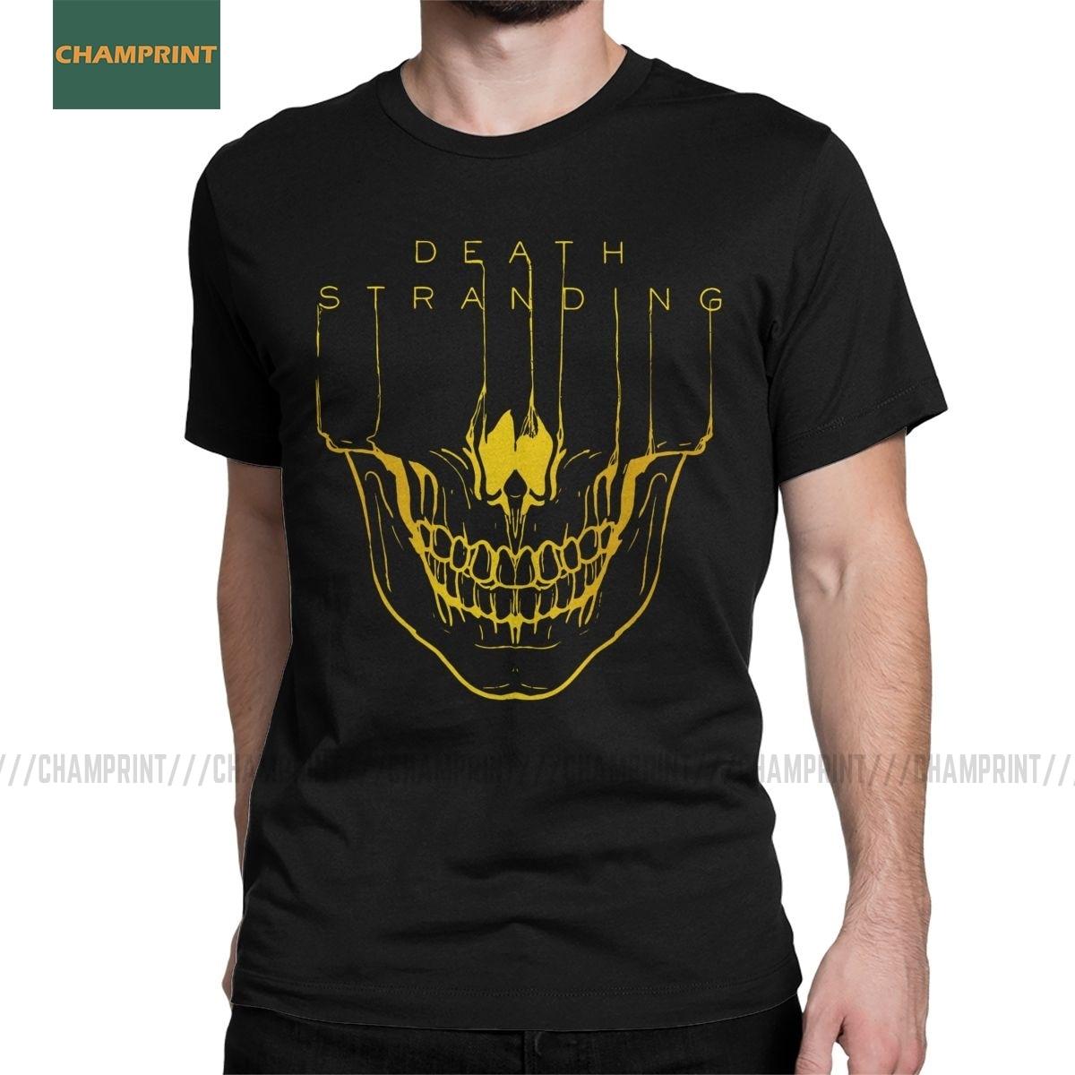 Camiseta para hombre, divertida Camiseta de algodón con estampado de la muerte, camiseta de manga corta Hideo Kojima Metal Gear Solid Reedus normando Game Mgs
