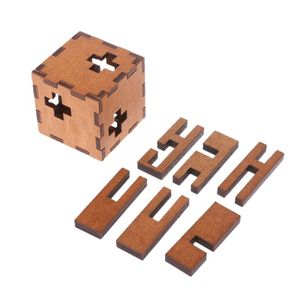 New Switzerland Cube Wooden Secret Puzzle Box Wood Toy Brain Teaser Toy For Kids 97BE