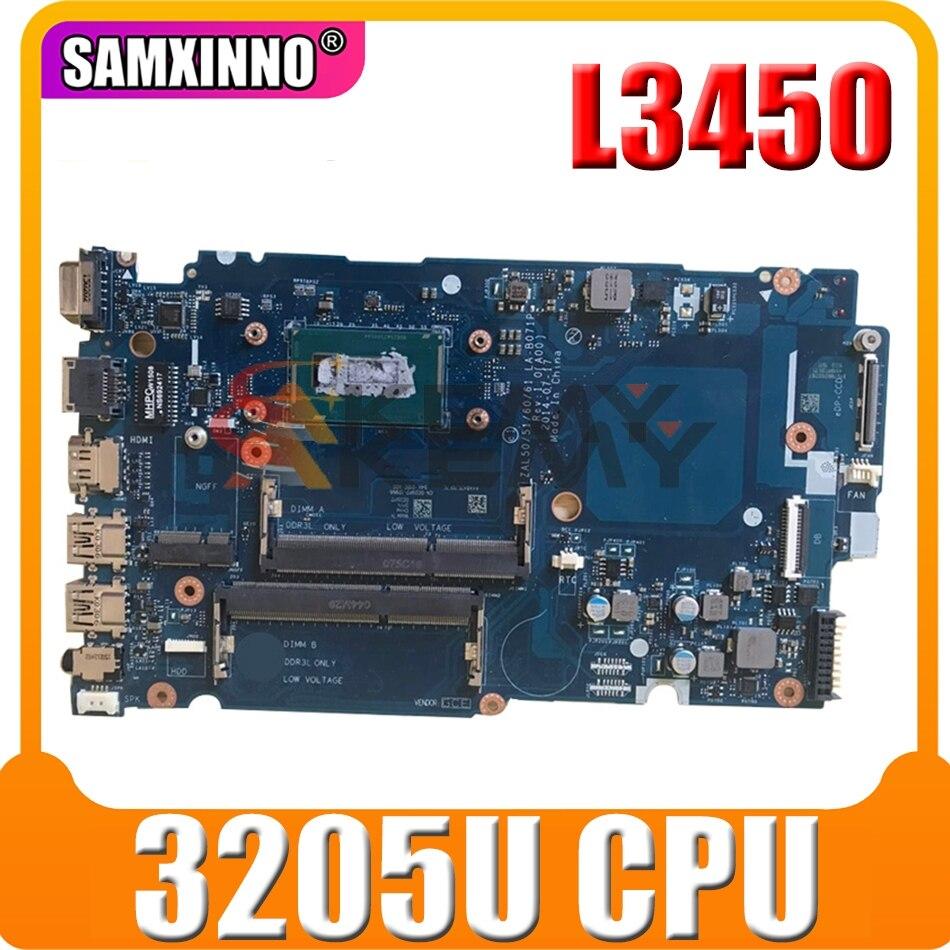 اللوحة الأم الأصلي لأجهزة الكمبيوتر المحمول DELL Latitude L3450 Celeron 3205U اللوحة الرئيسية CN-0G3WP7 0G3WP7 LA-B071P SR215 DDR3