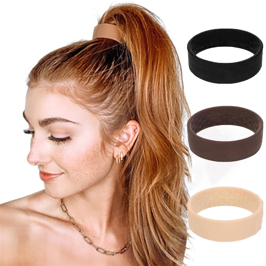Новинка-складное-эластичное-Силиконовое-кольцо-для-волос-Женский-фиксирующий-держатель-для-конского-хвоста-эластичные-резинки-для-волос