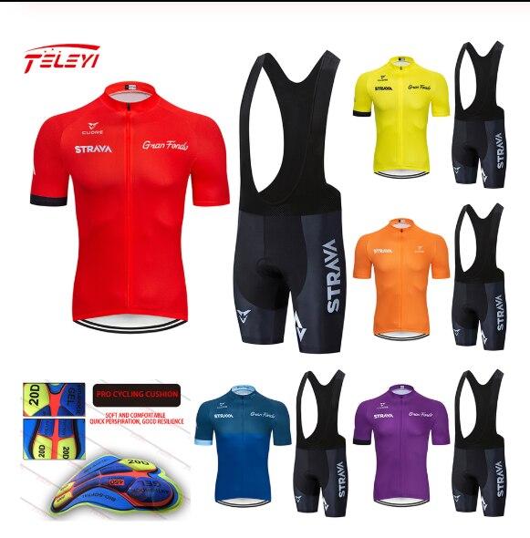 STRAVA-camisetas de Ciclismo para hombre, ropa de Ciclismo de montaña, de manga...