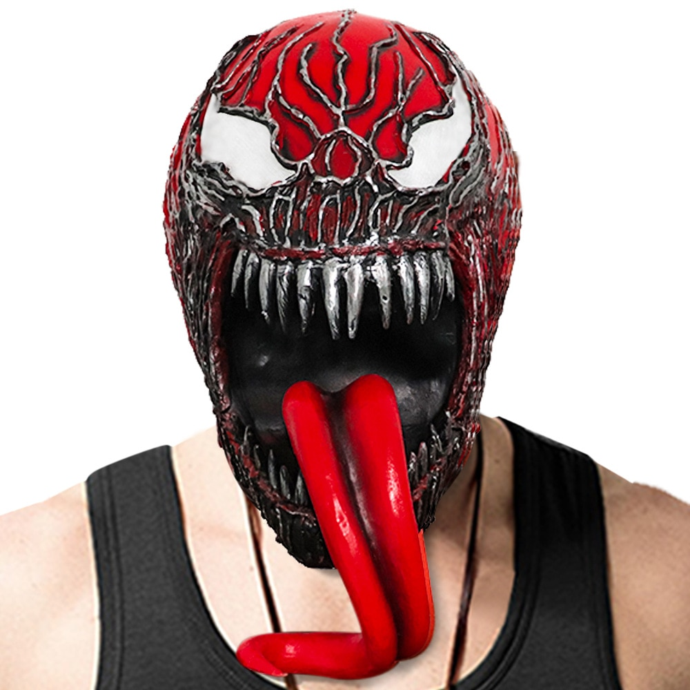 Snailify Venom 2 : Let There Be Carnage Mask Adult Carnage Helmet Men Scary Halloween Latex Mask