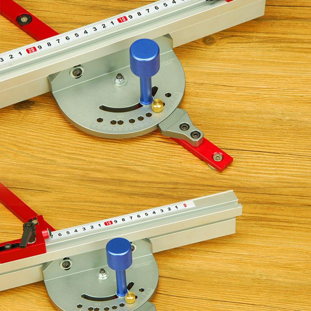 DIY Miter Gauge Reversal Table Saw Ruler Durable Guide Tool Easy Install Universal Engraving Machine Wood Working Push Back