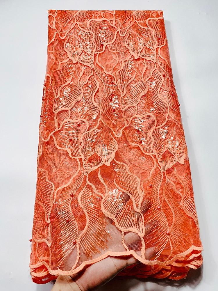 Tela de encaje de gasa suiza con lentejuelas africanas, tela de encaje de tul francés de alta calidad, tela de encaje 2020 Nigeria, tela de encaje bordado de guipur