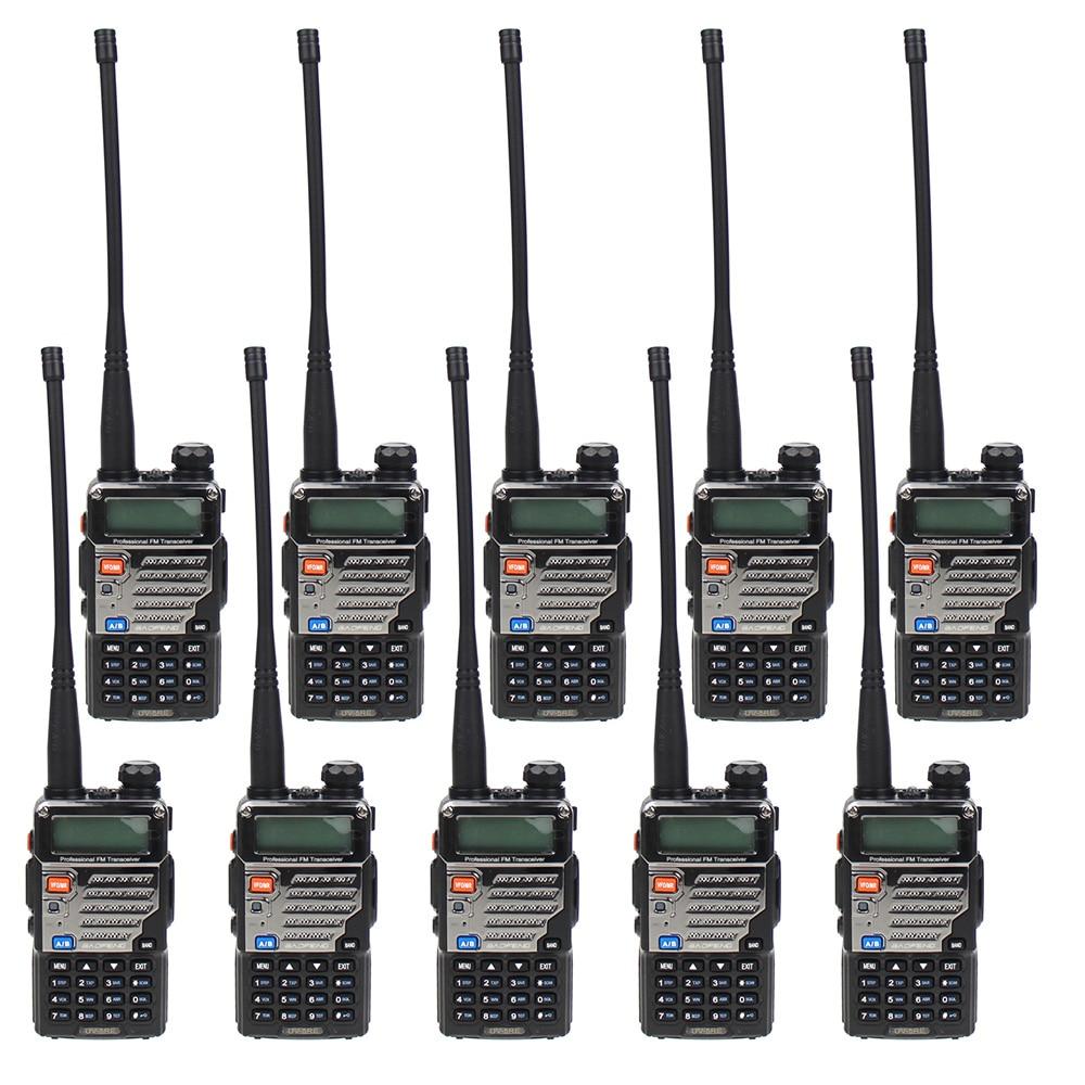10 Pcs BAOFENG UV-5RE Dual Band Amateur Handheld Two Way Radio FM Ham walkie Talkie
