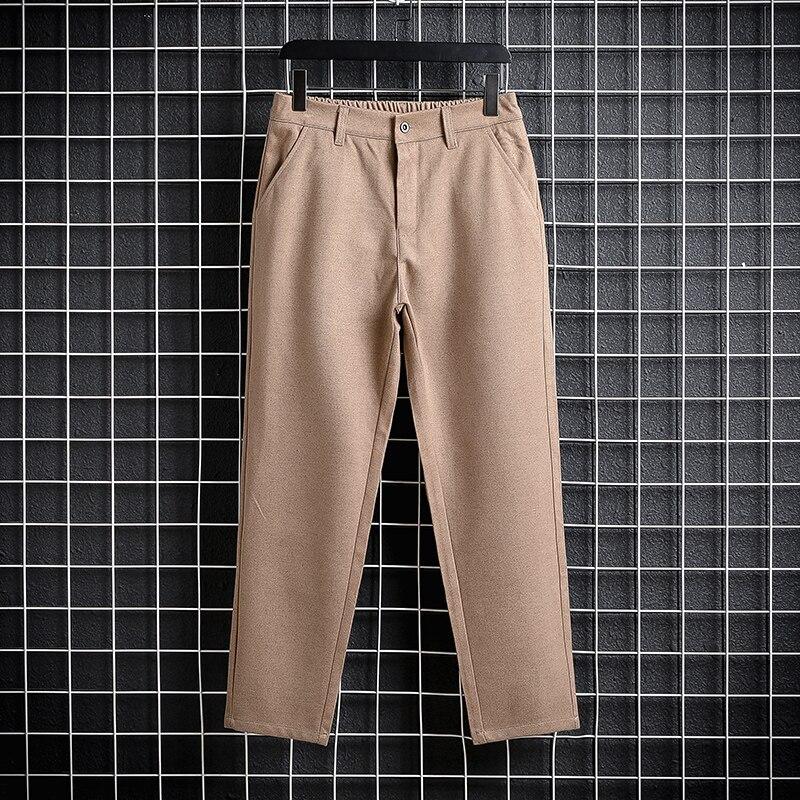 Теплые повседневные мужские брюки на осень и зиму, плотные девять точек, мужские костюмные брюки, британские деловые брюки