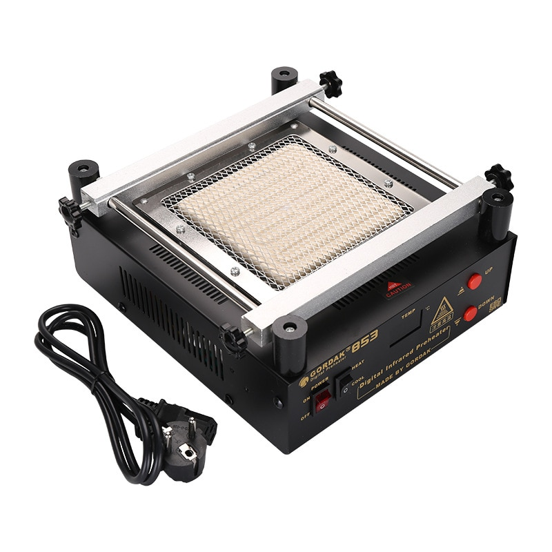new 80 80mm 450w infrared top upper four specifications bottom ceramic heating plate for bga rework station tools BGA Bottom Heating Temperature Control Rework Station Gordak 853 IR Preheater Station Lead Free Infrared Preheating Station