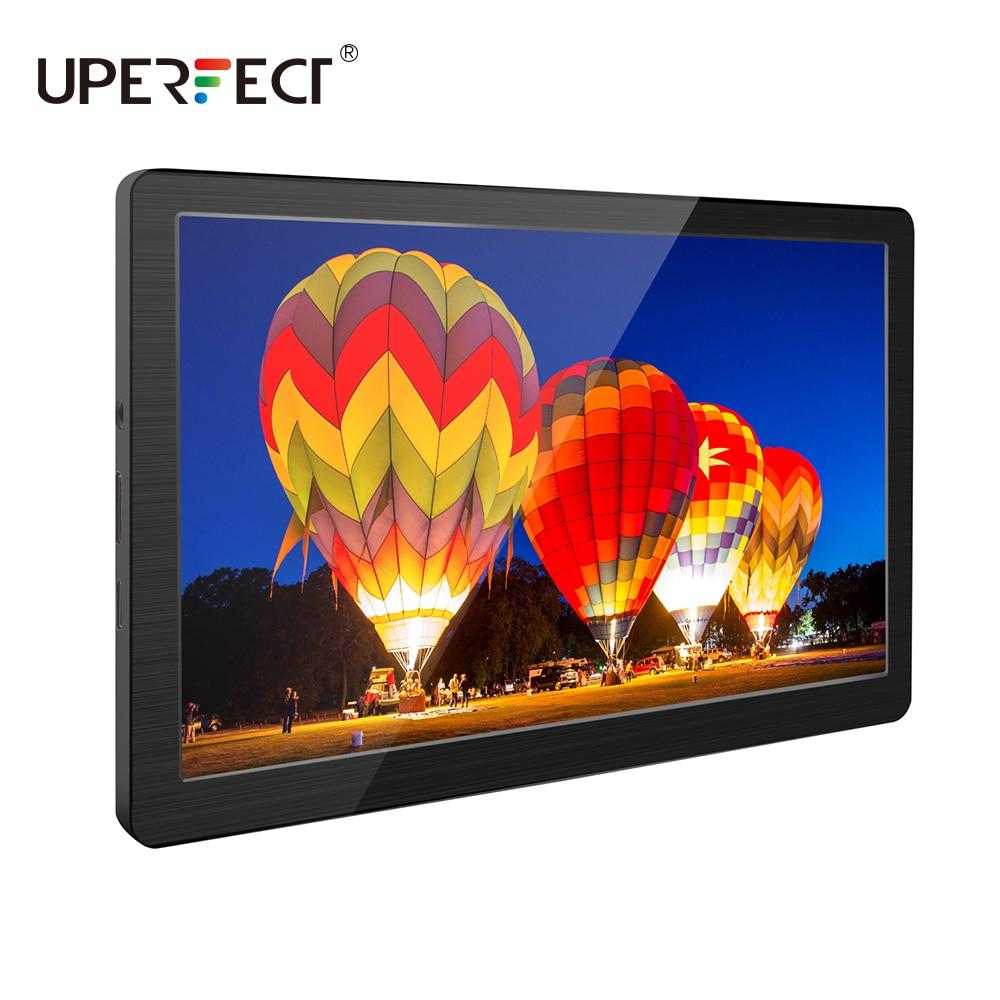 UPERFECT شاشة 7 بوصة صغيرة محمولة 1024x600 IPS نوع العرض C HDMI فيديو لأجهزة الكمبيوتر المحمول ماك الهاتف PS4 Xbox التبديل التوت بي