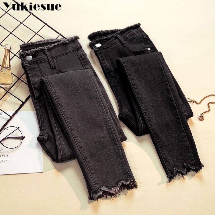 2020 Jeans woman Female Denim Pants Black Womens Jeans Donna Stretch Bottoms Feminino Skinny Pants F