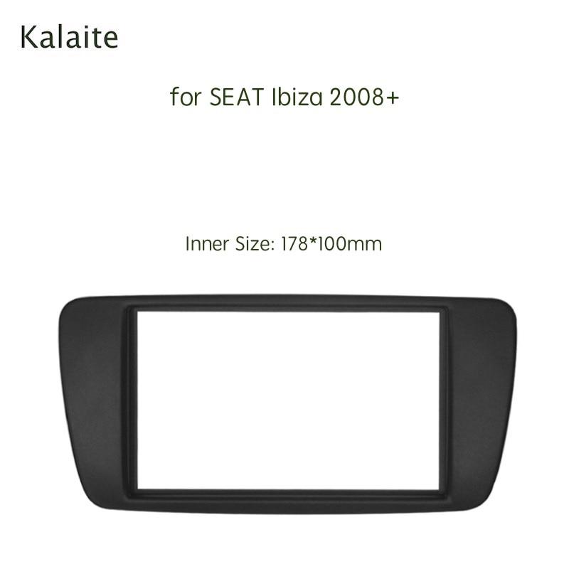 Radio para coche Kalaite 2 Din para SEAT Ibiza 2008 + bastidor Multimedia, Panel de Audio, tablero, Kit de ajuste de Ajuste