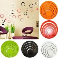 Autocollants muraux 3D amovibles pour TV  cercles de decoration pour la maison  plusieurs couleurs au choix  decoration de salle