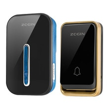 ZOGIN Wireless Doorbell Smart Door Bell Home Waterproof Cordless Ring Dong Chime House Call  220V ti