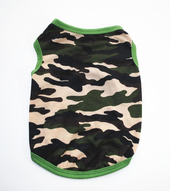 Camisetas Perro camuflaje Perro ropa Pitbull ropa chaleco para Perro Yorkshire Camisetas con terriers Cat Tee verano algodón transpirable