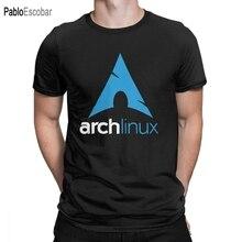 Arch Linux T-Shirts hommes Vintage 100% coton t-shirt col rond manches courtes t-shirt nouveauté vêtements