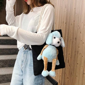 Women Bag Women 2019 Cute Doll Canvas Bag Girl Handbag Fashion Shoulder Bag Shopping Bag Ladies Hand Bags Bolsa Feminina #NP