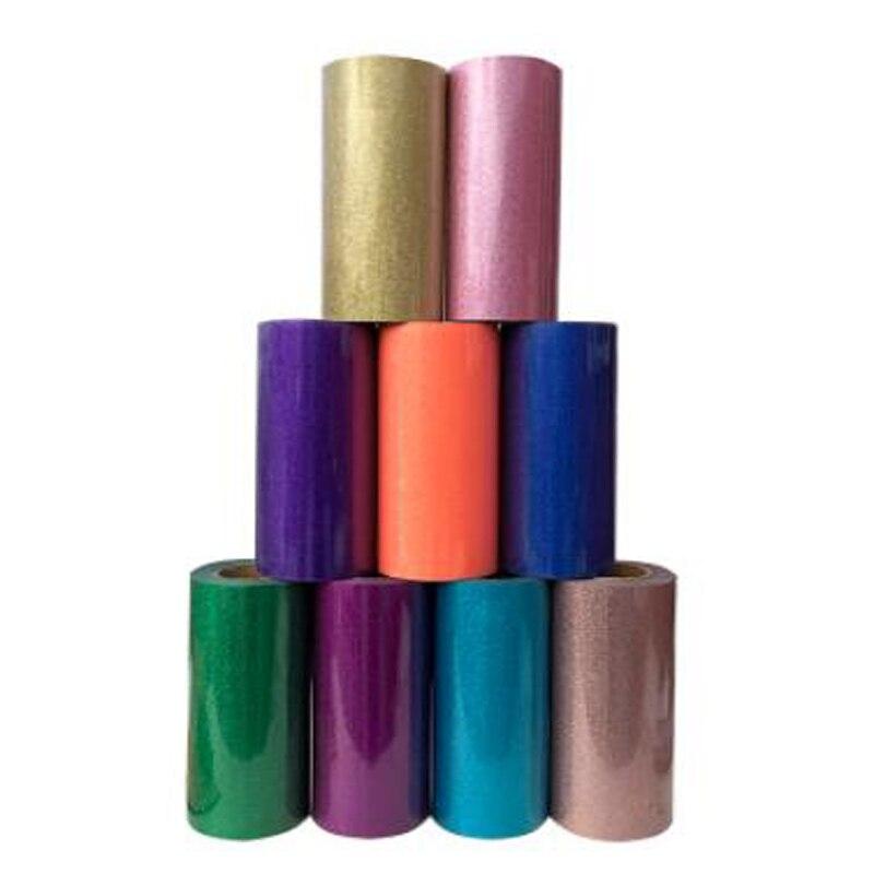 """30cm x 25cm(12 """"x10"""") cor rica brilho transferência de calor filme de vinil imprensa de calor t-camisa ferro em htv impressão diy filme de roupas"""