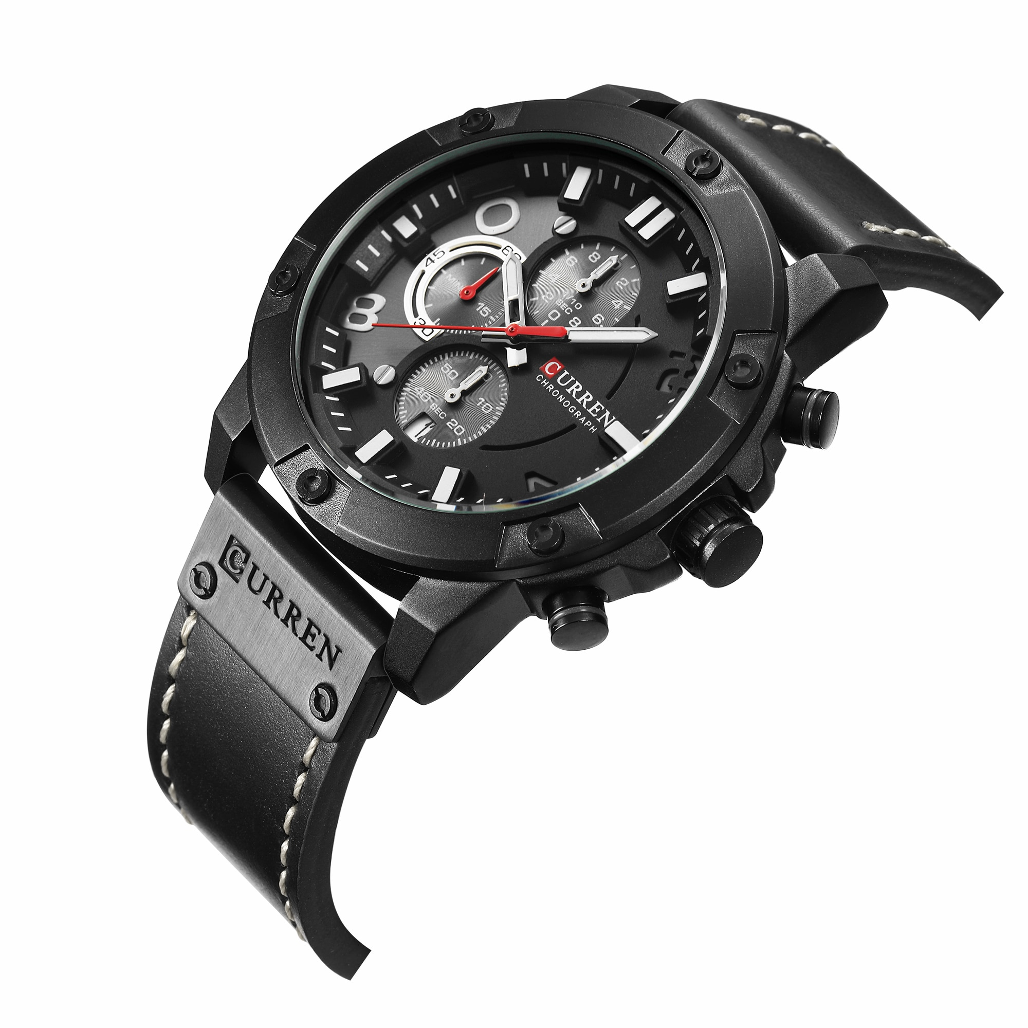 CURREN Sport Watch Leather Strap New Arrival Simple Style Male Military Watches Quartz Waterproof Chronograph Top Brand Clock new men watch ochstin top brand sport wrist hand quartz watch waterproof chronograph quartz black male date leather strap clock