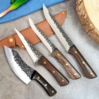 forged butcher knife high carboon stainless steel knife chef knife meat cleaver knife kitchen knives cooking knife