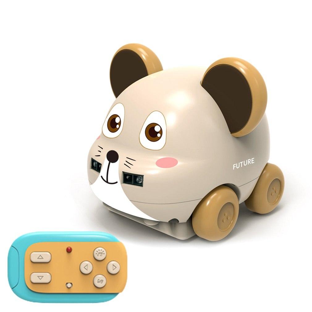 1Pcs Kids Cartoon Animal RC Car Mouse Owl Robot Hand Control Car Gesture Sensor Music Track Followin