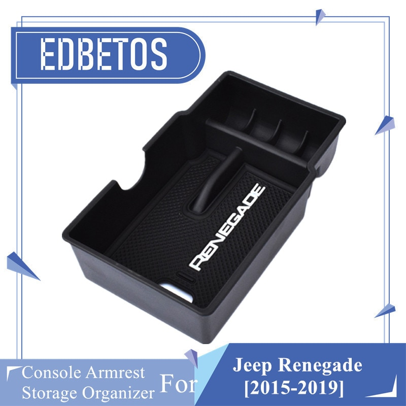 Renegade 2015 2016 2017 2018 2019 Console Armrest Storage Organizer For Jeep Renegade 2015-2019 Armrest Box Car Organizer