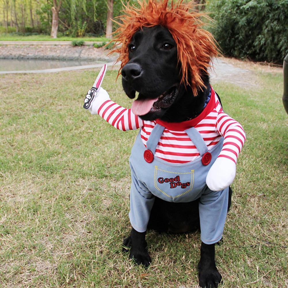 Nueva llegada, ropa divertida para mascotas, disfraz de pirata, perro, gato, lindo mediano para fiesta pequeña, disfraz cómodo para perros, ropa de Halloween J6F9