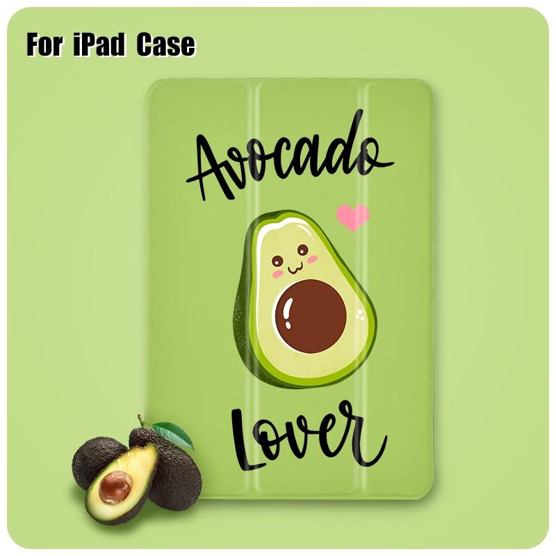 Cute Cartoon Avocado  Case For Ipad Mini 2 3 4 5 Air 10.5-in Cases ipad 7th Generation Pro