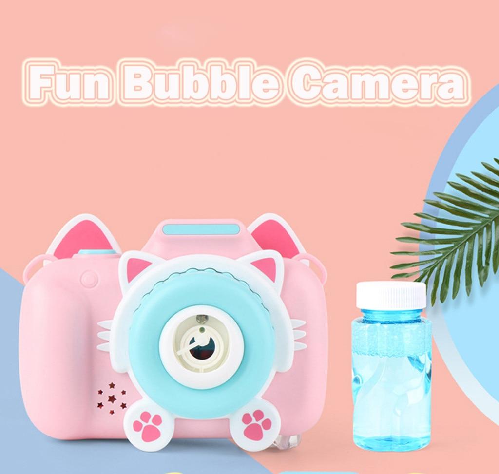 Juguetes de burbujas de cámara de música mágica para niños, máquina automática de soplado de burbujas, juguetes para niños, cámara de burbujas, juguete para bebé spielzeug