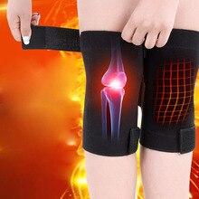 AOLIKES 1 paire soins de santé Tourmaline auto-chauffant genouillère soutien de thérapie magnétique réglable genou masseur soulager la douleur aux jambes