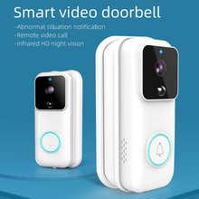 Smart wireless doorbell waterproof remote control smart doorbell infrared night vision IP camera music doorbell receiver