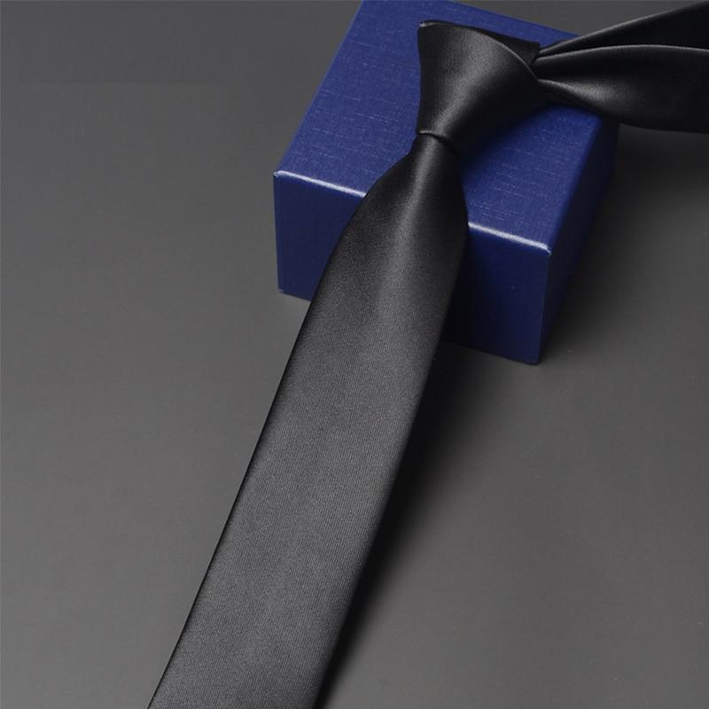 2020 Brand New High Quality 6CM Slim Tie for Men Fashion Formal Necktie Male Business Work Ties Luxury Jacquard Black Neck Tie