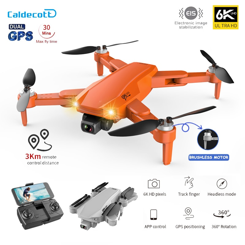 Caldecott S608 Pro GPS Drone 4k Profesional 6K HD Dual Camera Aerial Photography Brushless Foldable Quadcopter RC Distance 3KM