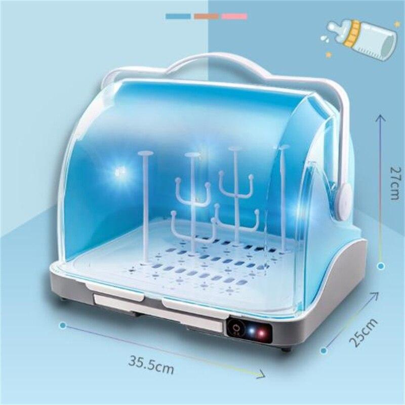 2021 Newest  Baby Bottle Storage Box   Tableware UV Disinfection Drain Rack Dustproof Storage Artifact enlarge