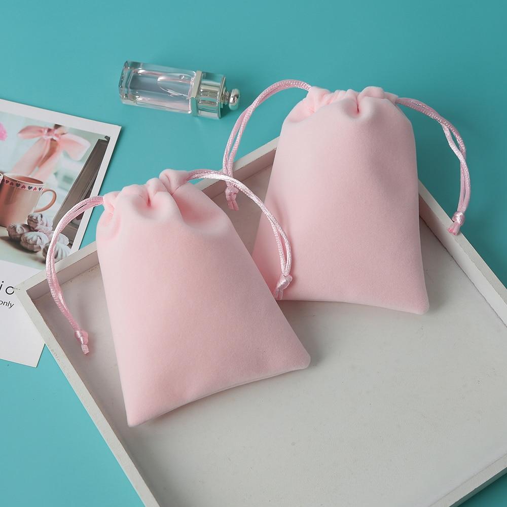 Бархатная сумка на шнурке, персонализированные мешочки для ювелирных изделий, небольшие свадебные сувениры, подарок, может быть стандартна...