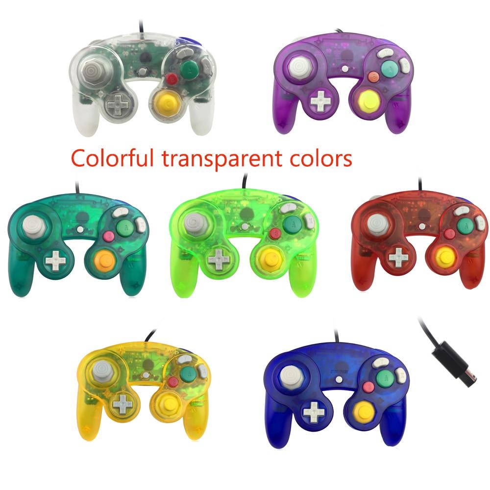 Прозрачный цветной проводной геймпад, контроллер, джойстик с одной точкой для геймпада, ПК, для N-G-C, джойстик геймпад retro genesis controller 16 bit джойстик проводной с кнопкой mode универсальный p1 p2