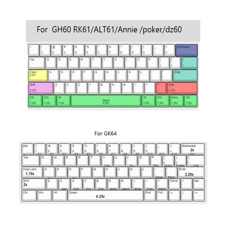 حبر البرقوق صبغ التسامي لوحة المفاتيح الميكانيكية لطيف أغطية المفاتيح PBT OEM الشخصي Keycap للوحة المفاتيح GH60 GK61 GK64