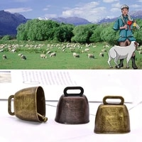 1pc cow horse sheep grazing copper bels large thicken cattle sheep copper bells loud crisp spread farther loud prevent loss