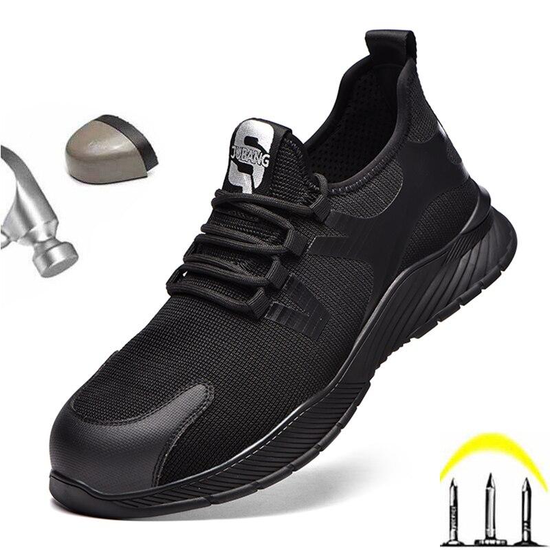 Sapato com Aço Tênis de Trabalho de Alta Sapatos Masculinos Ankle Boots Respirável Trabalho Segurança Toe Cap Kevlar Midsole Puncture-proof Qualidade