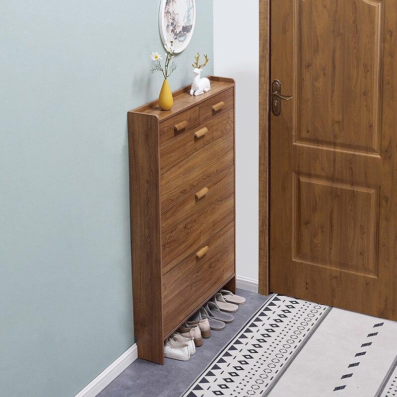 اقتصادية رقيقة جدا المنزلية خزانة خذاء الباب متعددة الوظائف الحديثة خزانة الجمعية ضيق البقشيش رف الأحذية الصغيرة