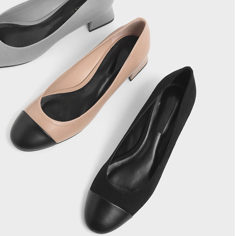 2021 New Women's Shallow Pumps Round Toe Flat With Square Heel Splicing PU Slip-on Single Shoes Korean Style Mother's Day Gift