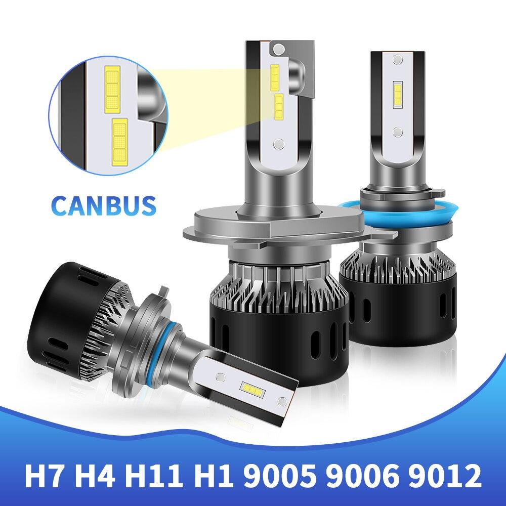 Gran oferta de Chips CSP 65W 16000lm H4 H3 9005 9006 H1 H7 H11 9012 lámpara de bombilla LED para faros de coche, faro LED de coche 12V automotriz