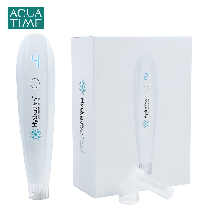 Hydra Pen H2 Microneedling Pen  LED Display HydraPen Micro Needle Derma Pen Mesotherapy Skin Care Tool Automatic Serum Applicate