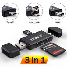 Устройство для чтения SD-карт, USB C, USB 2,0, OTG