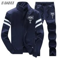 e baihui mens sets casual sportwear suit autumn spring designer embroidery male baseball jersey suit for men leisure suits tz06
